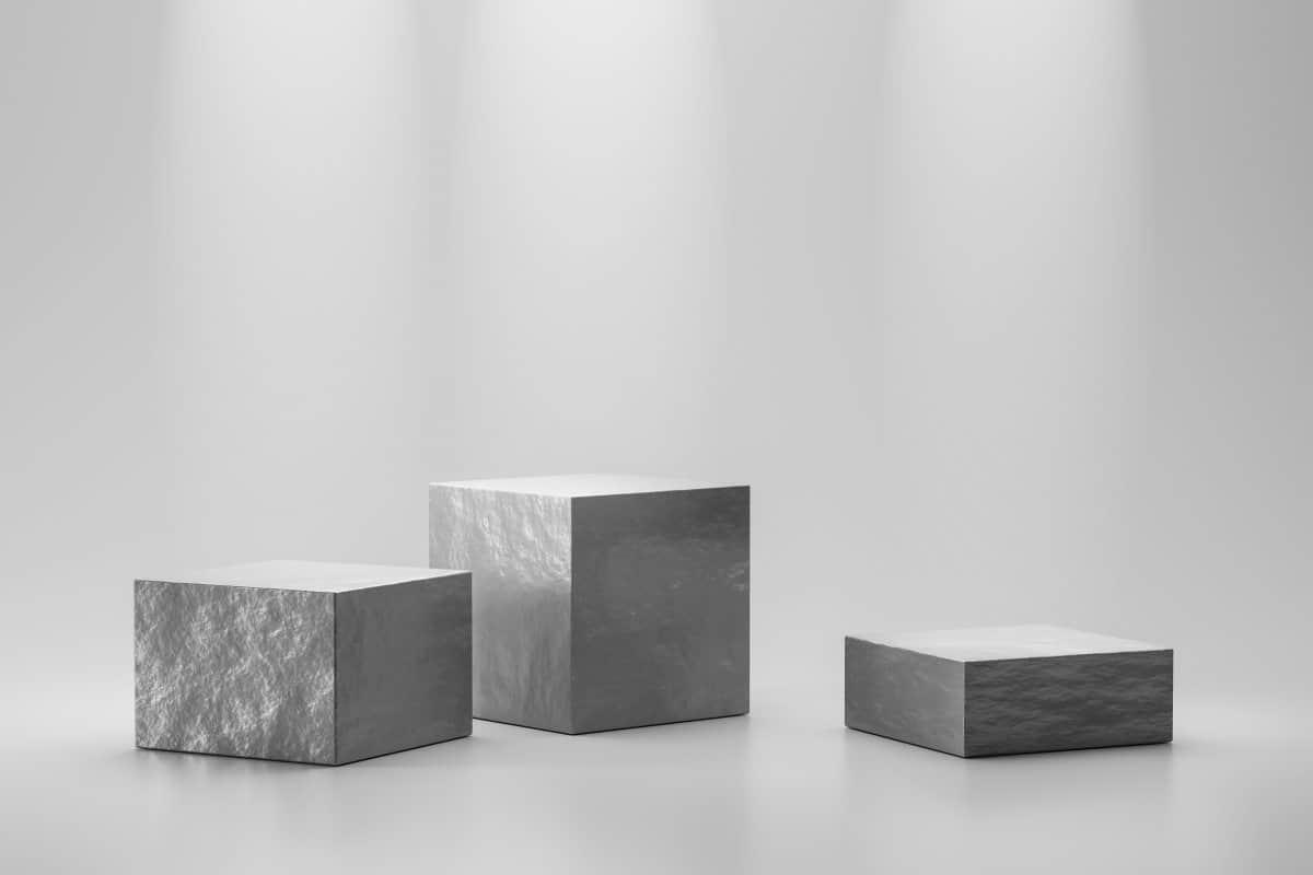 kostki betonu o różnych wielkościach